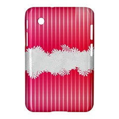 Digitally Designed Pink Stripe Background With Flowers And White Copyspace Samsung Galaxy Tab 2 (7 ) P3100 Hardshell Case