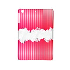 Digitally Designed Pink Stripe Background With Flowers And White Copyspace iPad Mini 2 Hardshell Cases