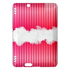 Digitally Designed Pink Stripe Background With Flowers And White Copyspace Kindle Fire HDX Hardshell Case