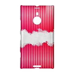 Digitally Designed Pink Stripe Background With Flowers And White Copyspace Nokia Lumia 1520