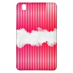 Digitally Designed Pink Stripe Background With Flowers And White Copyspace Samsung Galaxy Tab Pro 8 4 Hardshell Case