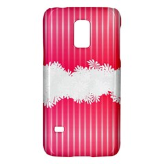Digitally Designed Pink Stripe Background With Flowers And White Copyspace Galaxy S5 Mini
