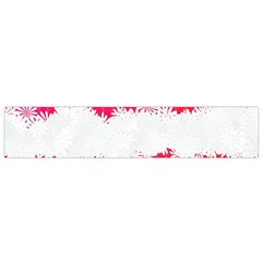 Digitally Designed Pink Stripe Background With Flowers And White Copyspace Flano Scarf (small)