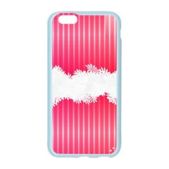 Digitally Designed Pink Stripe Background With Flowers And White Copyspace Apple Seamless iPhone 6/6S Case (Color)