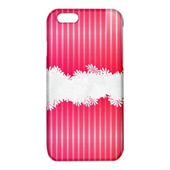 Digitally Designed Pink Stripe Background With Flowers And White Copyspace iPhone 6/6S TPU Case