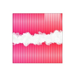 Digitally Designed Pink Stripe Background With Flowers And White Copyspace Satin Bandana Scarf