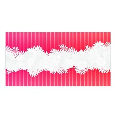 Digitally Designed Pink Stripe Background With Flowers And White Copyspace Satin Shawl