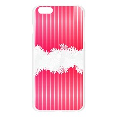 Digitally Designed Pink Stripe Background With Flowers And White Copyspace Apple Seamless iPhone 6 Plus/6S Plus Case (Transparent)