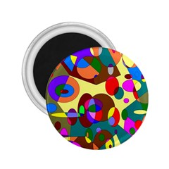 Abstract Digital Circle Computer Graphic 2.25  Magnets