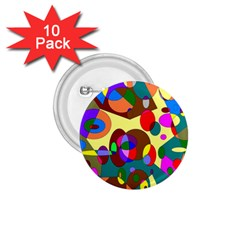Abstract Digital Circle Computer Graphic 1 75  Buttons (10 Pack)