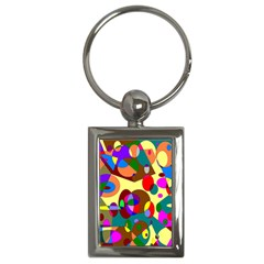 Abstract Digital Circle Computer Graphic Key Chains (rectangle)