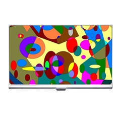 Abstract Digital Circle Computer Graphic Business Card Holders