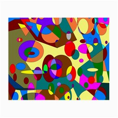 Abstract Digital Circle Computer Graphic Small Glasses Cloth