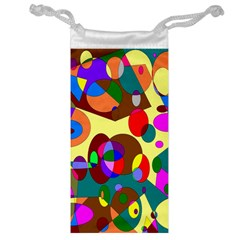 Abstract Digital Circle Computer Graphic Jewelry Bag