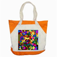 Abstract Digital Circle Computer Graphic Accent Tote Bag