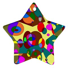 Abstract Digital Circle Computer Graphic Star Ornament (two Sides)