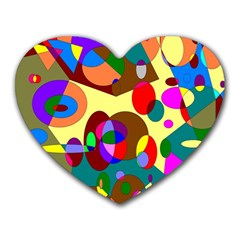 Abstract Digital Circle Computer Graphic Heart Mousepads