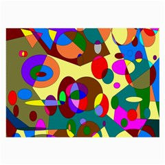 Abstract Digital Circle Computer Graphic Large Glasses Cloth (2-Side)