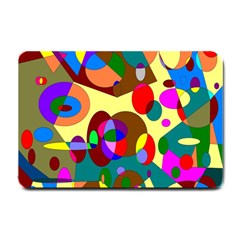 Abstract Digital Circle Computer Graphic Small Doormat