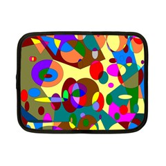 Abstract Digital Circle Computer Graphic Netbook Case (Small)