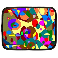 Abstract Digital Circle Computer Graphic Netbook Case (Large)