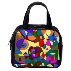 Abstract Digital Circle Computer Graphic Classic Handbags (one Side)