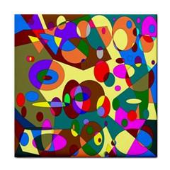 Abstract Digital Circle Computer Graphic Face Towel