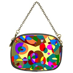 Abstract Digital Circle Computer Graphic Chain Purses (One Side)