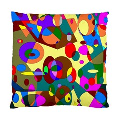 Abstract Digital Circle Computer Graphic Standard Cushion Case (Two Sides)