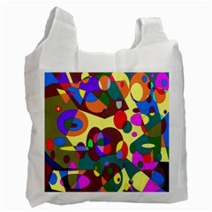 Abstract Digital Circle Computer Graphic Recycle Bag (Two Side)