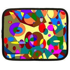 Abstract Digital Circle Computer Graphic Netbook Case (XL)