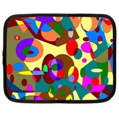 Abstract Digital Circle Computer Graphic Netbook Case (XXL)