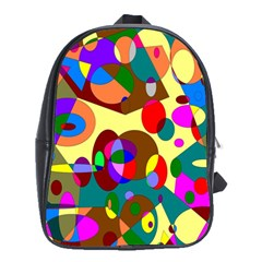 Abstract Digital Circle Computer Graphic School Bags(Large)