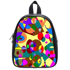 Abstract Digital Circle Computer Graphic School Bags (Small)