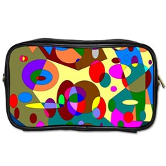 Abstract Digital Circle Computer Graphic Toiletries Bags 2-Side