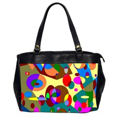 Abstract Digital Circle Computer Graphic Office Handbags (2 Sides)