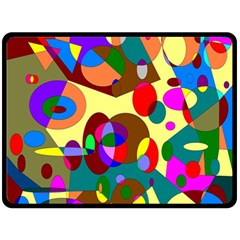 Abstract Digital Circle Computer Graphic Fleece Blanket (Large)