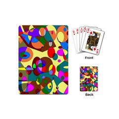 Abstract Digital Circle Computer Graphic Playing Cards (Mini)