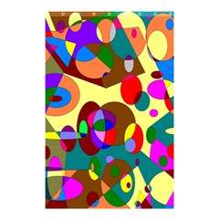 Abstract Digital Circle Computer Graphic Shower Curtain 48  x 72  (Small)