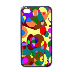 Abstract Digital Circle Computer Graphic Apple iPhone 4 Case (Black)