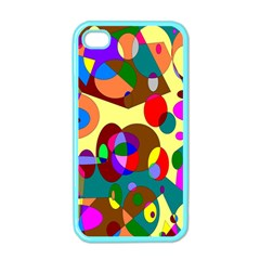 Abstract Digital Circle Computer Graphic Apple Iphone 4 Case (color)