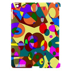 Abstract Digital Circle Computer Graphic Apple iPad 3/4 Hardshell Case (Compatible with Smart Cover)