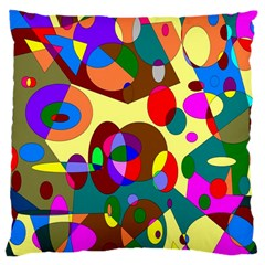 Abstract Digital Circle Computer Graphic Large Cushion Case (Two Sides)