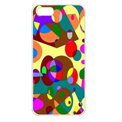 Abstract Digital Circle Computer Graphic Apple Iphone 5 Seamless Case (white)