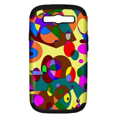 Abstract Digital Circle Computer Graphic Samsung Galaxy S Iii Hardshell Case (pc+silicone)