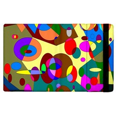 Abstract Digital Circle Computer Graphic Apple Ipad 3/4 Flip Case