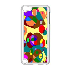 Abstract Digital Circle Computer Graphic Apple iPod Touch 5 Case (White)