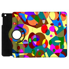 Abstract Digital Circle Computer Graphic Apple iPad Mini Flip 360 Case