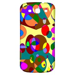 Abstract Digital Circle Computer Graphic Samsung Galaxy S3 S III Classic Hardshell Back Case
