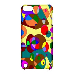 Abstract Digital Circle Computer Graphic Apple iPod Touch 5 Hardshell Case with Stand